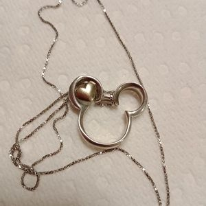 Sterling Silver Disney Necklace and Disney Pendant